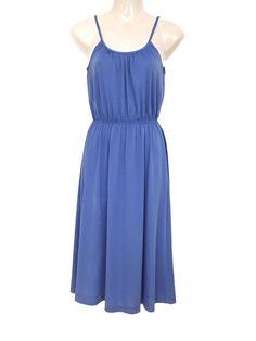 Mein Süßes Vintage Kleid Blau Tailliert Midi Dress Basic Sommer  von true vintage. Größe Uni für 18,00 €. Schau es dir an: http://www.kleiderkreisel.de/damenmode/midis/155180007-susses-vintage-kleid-blau-tailliert-midi-dress-basic-sommer.