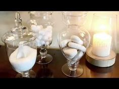 Emenest Apothecary Jars Trio || Create a Spa Look for Your Bathroom - YouTube