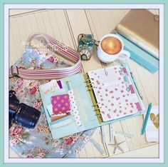 Friday's work station... planner setup is like therapy for me ;0) mint kikki k, sugarpaper & lilly pulitzer agenda