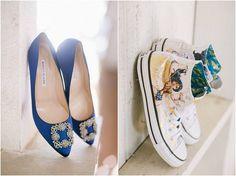 The Ashford Estate // Fall Wedding by NJ Photographer Off BEET Productions// blue wedding shoes + wonder woman converse