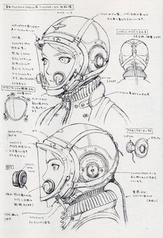 Range Murata - Concept Art & Character Design  From: Spheres (Last Exile 1st Character Filegraphy)