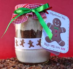 The gift of Giving :) Gingerbread cookies in a Jar
