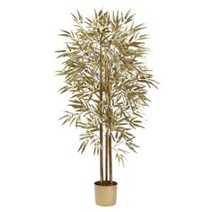 Nearly Natural 5 ft. Golden Bamboo Silk Tree - 5395