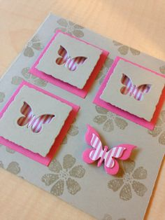 Card with little butterfly's.