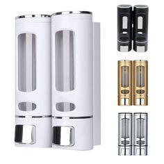 Single/Double 400ml Soap Dispenser Wall-Mount- Alola Shampoo Dispenser, Soap Dispensers, Bathroom Hardware, Bathroom Fixtures, Liquid Soap, Washroom, Aliexpress, Wall Mount, Conditioner