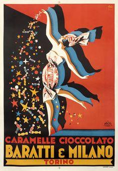 Pluto - Caramelle Cioccolato Baratti & Milano 1928 - 1960s - W.B.