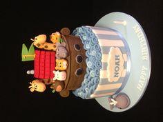 Noah's Arc 1st birthday cake made by @sweetsbysuzie Melbourne