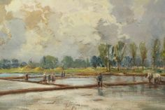 Carlo Balestrini (1868-1922) #dimanoinmano #arte #occasioni #art #painting #dipinto #olio #country