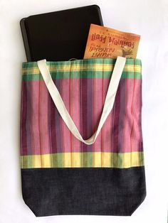 Retro Cotton Jean Green Pink Yellow Check Shoulder Travel Tote Zip Bag Handmade  | Clothing, Shoes & Accessories, Women's Handbags & Bags, Handbags & Purses | eBay!