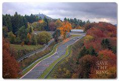 Blick auf das Caracciola-Karussell - Nürburgring-Nordschleife
