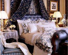 ralph lauren bedroom. Canopy treatment.