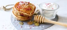 Raspberry, Lime and Coconut Pancakes