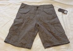 Hudson and Barrow men cargo style #shorts size 32 NWT brown with stripes cotton visit our ebay store at  http://stores.ebay.com/esquirestore