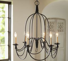 Armonk 6-Arm Chandelier | Pottery Barn-Dining Room LOVE FOR THE DINNING ROOM!!!!