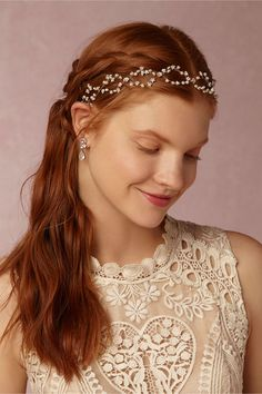 BHLDN Pearldrop Halo in  Shoes & Accessories Headpieces at BHLDN