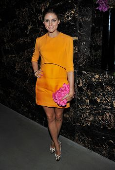 Olivia in orange, pink and leopard. cool color combos: sherbert orange and pink