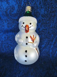 Snowmen Christmas Ornaments three by NowAndThenConnection on Etsy