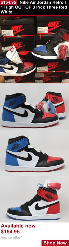 0b99dda08a41 Children boys clothing shoes and accessories  Nike Air Jordan Retro I 1  High Og Top 3 Pick Three Red White Blue 555088-026 BUY IT NOW ONLY   154.95
