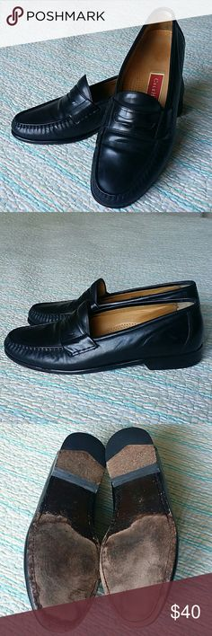 Cole Haan Black Leather Penny Loafer Slip On Sz 9M Cole Haan Black Leather Penny Loafer Slip On Shoes Mens 9 M Cole Haan Shoes Loafers & Slip-Ons