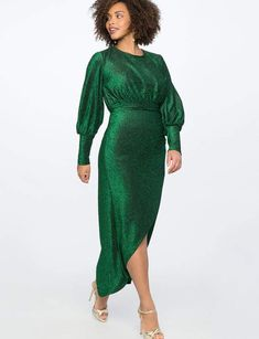 b742df89e7eb Strut your stuff in this emerald hue dress. Serious Beyoncé vibes. Sparkle  Maxi Dress