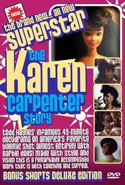 Superstar: The Karen Carpenter Story USING BARBIE DOLLS: this film explores Karen Carpenter's battle with anorexia nervosa and the cultural influence of the Carpenters in the Bad Barbie, Barbie Dolls, Karen Carpenter Movie, Peliculas Audio Latino Online, Downey California, Todd Haynes, Film World, Drama, Easy To Love