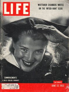 1953 LIFE MAGAZINE vintage magazine cover ~ June 22, 1953 ~ Mills College Graduate, Leslie Anne Lebkicher ~