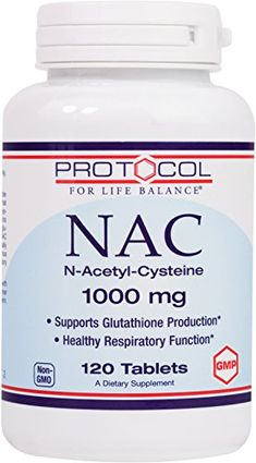 Protocol For Life Balance  NAC NAcetylCysteine 1000 mg  Supports Glutathione Production and Healthy Respiratory Function  120 Tablets -- You can find more details by visiting the image link.