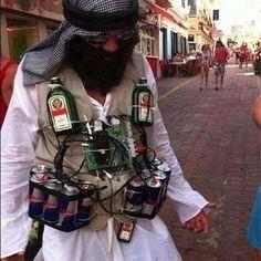 Funniest DIY costume I've seen: JagerBomb Tasty!
