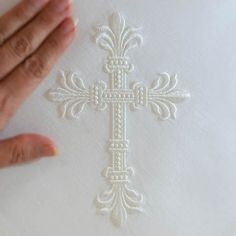 Hardanger Embroidery Patterns An Elegant Cross ( Large)Purchase - Types Of Embroidery, Learn Embroidery, Embroidery Files, Embroidery Applique, Machine Embroidery Designs, Embroidery Stitches, Embroidery Patterns, Altar Cloth, Hardanger Embroidery