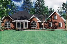 This European House Plan includes 3 bedrooms / 2 baths in 1638 sq ft of living space.  Its open floorplan layout is flexible and is ideal for your growing family.  Best of all, its designed to be affordable to build and includes all of the most popular features you're looking for in your next home design.    #houseplan #dreamhome #HPG-1638 #HousePlanGallery #houseplans #homeplans Small House Floor Plans, House Plans And More, Best House Plans, Ranch House Plans, Bedroom House Plans, French Country House Plans, Contemporary Style Homes, Building A New Home, The Ranch