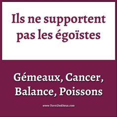 Ils ne supportent pas les égoïstes mais osent-ils leur dire ?   #horoscope #astrologie #zodiaque #gemeaux #cancer #balance #poissons