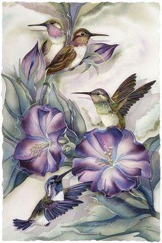 Bergsma Gallery Press::Paintings::Nature::Birds::Hummingbirds::Hummertime - Prints