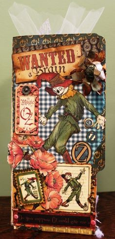 http://www.pinterest.com/deesgrignoli/graphic-45/  Magic of Oz Folder, Graphic 45