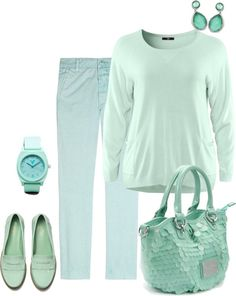 """""""I love mint too! :)"""" by musicfriend1 ❤ liked on Polyvore"""
