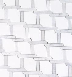 Tile Shower Ideas.  White Thassos Bathroom Tile Floor.  Waterjet Mosaic Pattern Trellis.  Carrara Carrera Marble Bathroom Ideas.  Renovation & Remodeling on a budget.  Powder Room Decor.  Master bathroom tile floor. Basketweave Floor Pattern. #tile #marble #bathroomremodel #bathroom #luxuryinteriordesign #decor #marblefloor #marbletile #waterjet #mosaic #carrara #carrera #whitemarble #whitebathroom #bathroomdesign #interiordesign #homedesign #powderroom #floortile #flooring #thassos…