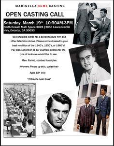 Marinella Hume Casting Atlanta OPEN CASTING CALL Saturday, March 19th North Dekalb Mall: Decatur, GA   The Southern Casting Call