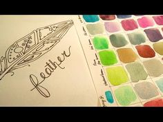 How to draw : easy: Space Feather Ink & Watercolor Illustration video