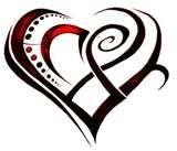 Flash Tattoo Designs Dagger by Heart Tribal - Design Tattoos Name Tattoo Designs, Heart Tattoo Designs, Tattoo Design Drawings, Tribal Tattoo Designs, Tattoo Designs For Women, Design Tattoos, Tribal Heart Tattoos, Tribal Tattoos For Women, Star Tattoos