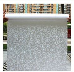 45CM*200CM Long Self-Adhesive Frosted Glass Film; Perfect for Sliding Door/Bathroom/Window; Translucent Opaque #2-64