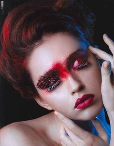 dramatic red makeup