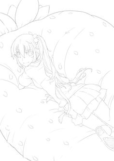 Azunyan lineart by Ryucchan on DeviantArt Adult Coloring Pages, Coloring Sheets, Lineart Anime, Line Drawing, Textures Patterns, Art Ideas, Deviantart, Fantasy, Drawings
