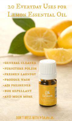 20 Everyday Uses for Lemon Essential Oil #essentialoil - DontMesswithMama.com
