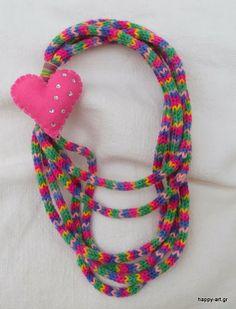 happyartgr:for girls only. Jewerly, Crochet Necklace, Handmade Gifts, Unique, Winter, Happy, Girls, Blog, Art