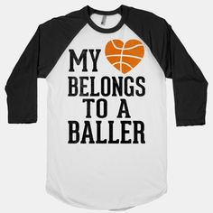 Let everyone know that your heart is reserved.. for the guy ballin' on the court! Sorry gentlemen, my heart belongs to a baller! #basketball #baller #girl #athlete #sports #girlfriend