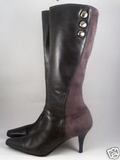 """High Boots Fashion Zip Up Womens Size 11 Gray Heels 3"""" Pointed Toes Buttons in Clothing, Shoes & Accessories, Women's Shoes, Boots 