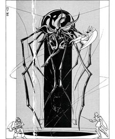 The Great Temple of the Great Fane of Lolth. (Jeff Dee, AD&D module D3: Vault of the Drow by Gary Gygax, TSR, 1980 and later printings.)