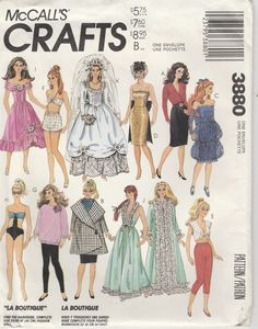 """Dolly Darling Around The World Doll Pattern old  Fits Barbie dolls 11-1//2/"""""""