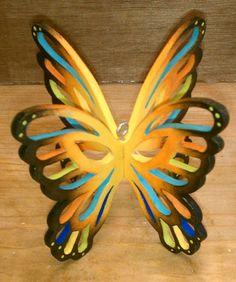 Wooden butterfly 3-D ornament