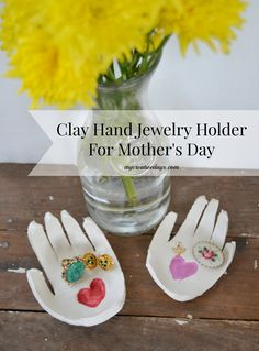 Need a Mother's Day gift idea? Check out these easy DIY Clay Hand Jewelry Holders from mycreativedays.com.
