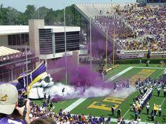 One of the top 25 entrances in college football. Ecu Football, Football Stadiums, Football Season, College Football, East Carolina University, North Carolina, Ecu Pirates, Stadium Seats, Pirate Life